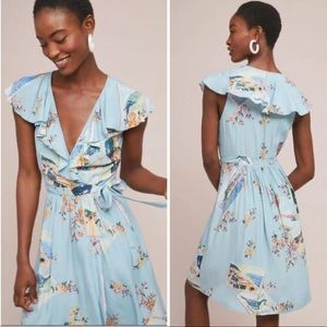 NWOT ANTHROPOLOGIE Maeve Rosalia Wrap Floral Dress